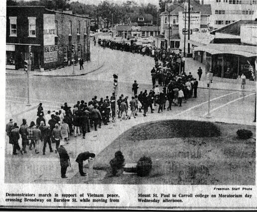 Zonyx Report:  Waukesha Freeman Anti-War March Photo, 1969