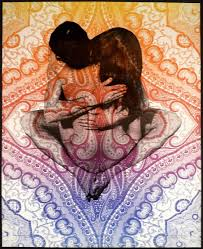 Psychedelic Yab-Yum Couple Sex Position Poster from the '60s